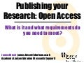 Publishing your research: Open Access (introduction & overview)