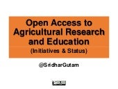 Open Access to Agricultural Research and Education