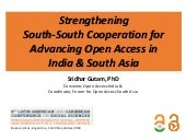 Strengthening South-South Cooperation for Advancing Open Access in India & South Asia