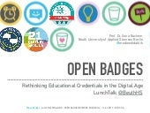 Open Badges - Rethinking Educational Credentials
