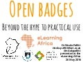Open badges: Beyond the hype to practical use