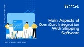 Main Aspects of OpenCart Integration with Shipping Software