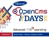 OpenCms Days 2015 Advanced Solr Searching