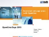 OpenCms Days 2015 Restricted web page