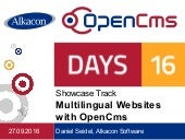 OpenCms Days 2016:   Multilingual websites with OpenCms