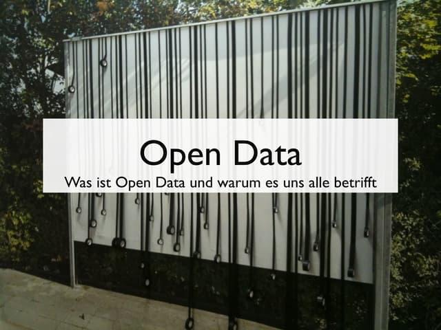 Open Data auf dem Webmontag in Nürnberg
