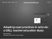 Adopting open practices in schools: a CALL teacher education study