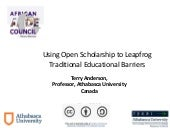 Using Open Scholarship to Leapfrog Traditional Educational Barriers