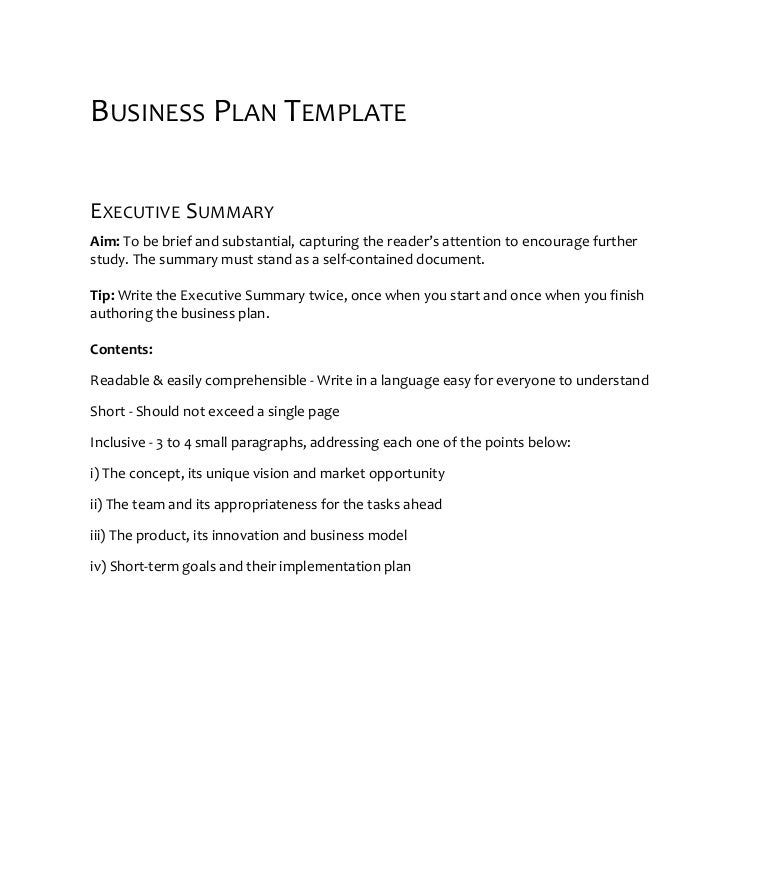 Openfund Business Plan Template Pre Seed