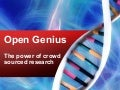 Open Genius: Crowdfunding Science