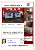 Open House Saturday, May 2nd at 1010 Berkshire, Indian Orchard, Springfield, MA