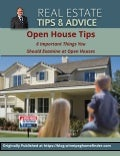 Home Buyers; 6 Tips For Visiting An Open House