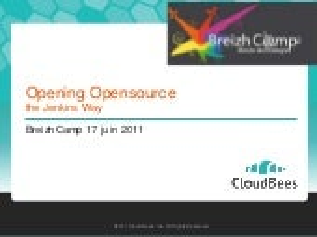 Opening opensource : The Jenkins Way