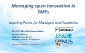 Open Innovation with Wim Vanhaverbeke