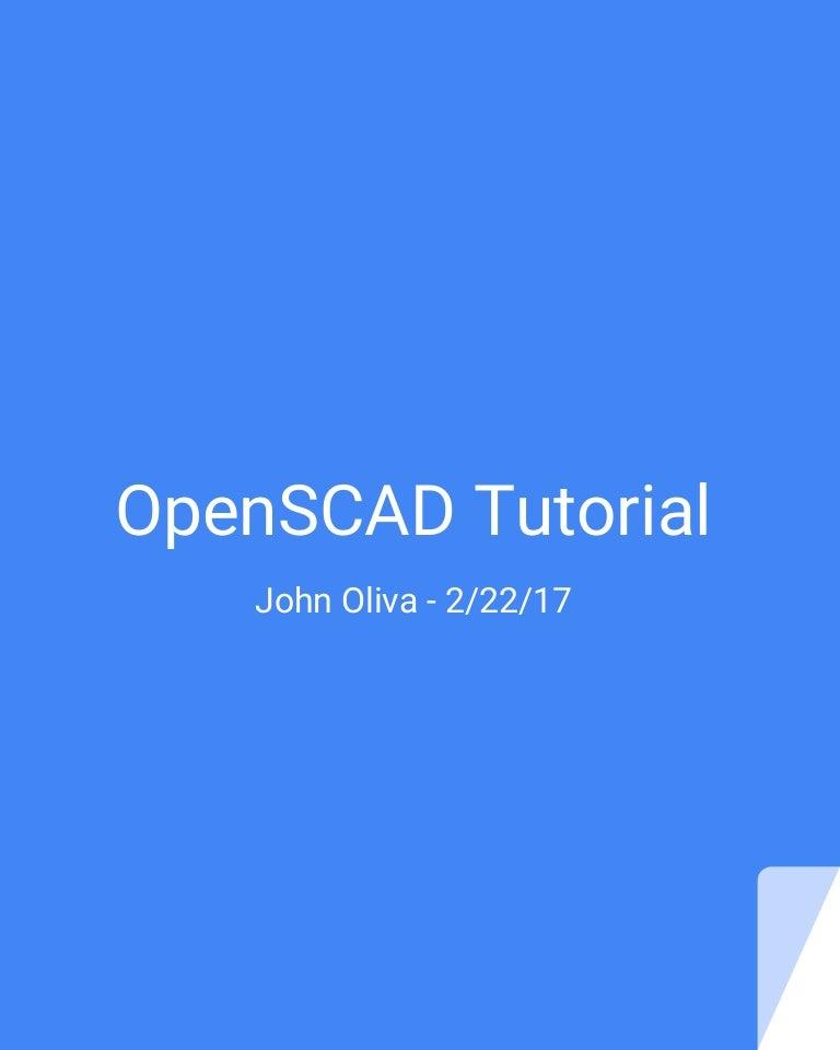 OpenSCAD Tutorial