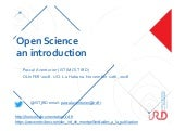 An open science introduction.  Olinfer 18, La havana, Cuba 12-14 nov 2018