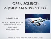 Open source: A Job and an Adventure - FLOSSUK 2016