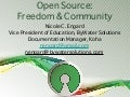 Open Source: Freedom and Community