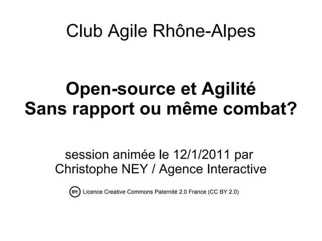 Open Source et Agilité