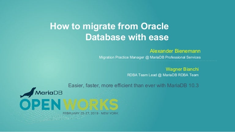 How to migrate from Oracle Database with ease