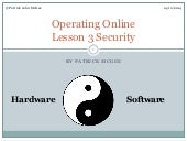 Operating online lesson 3 Security
