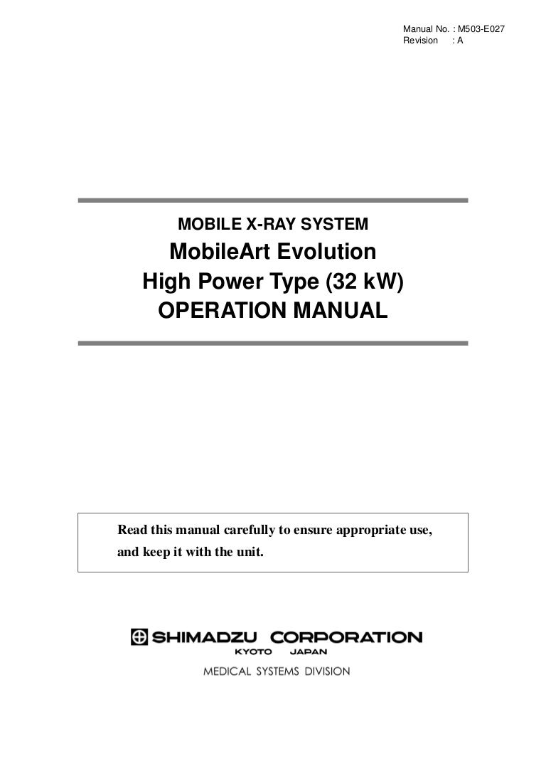 Operation Manual M503 E027a X Ray Generator Block Diagram