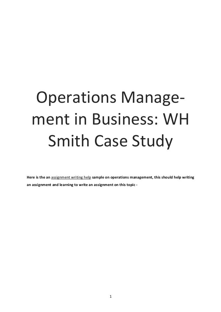 operations management in business assignment sample