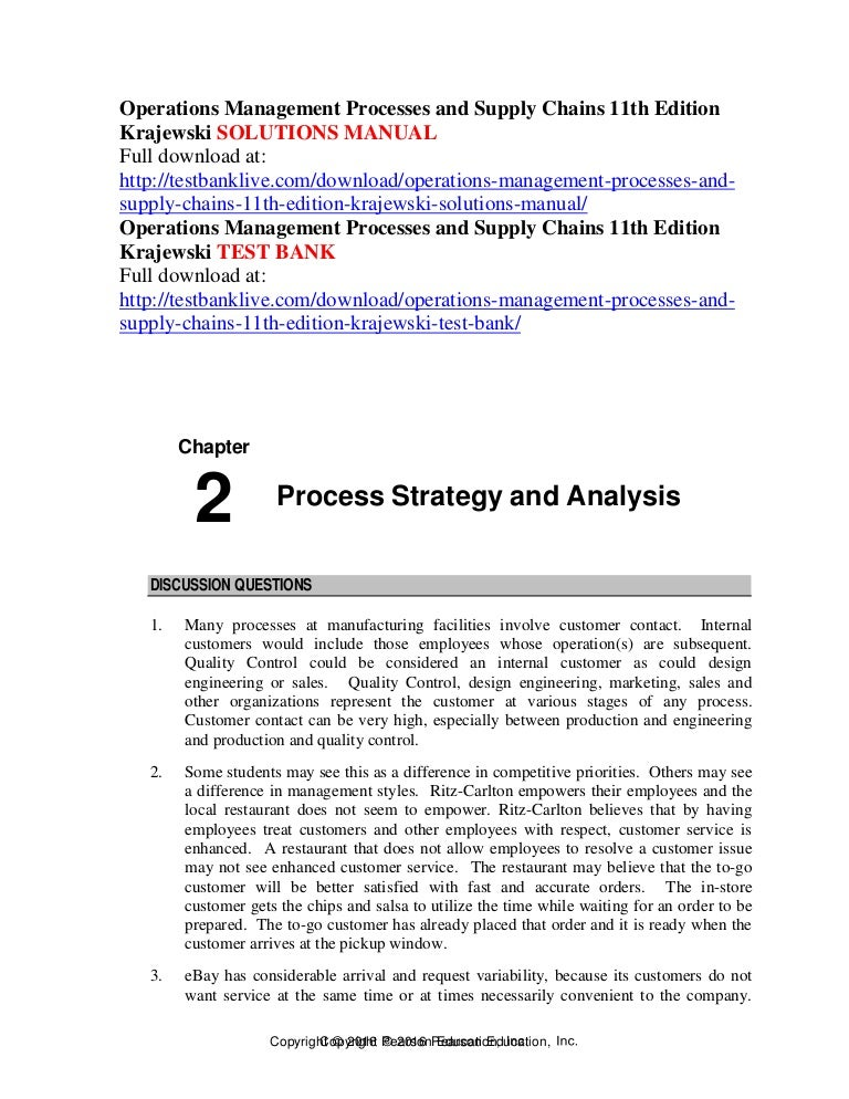 operations management processes and supply chains 11th edition krajew rh slideshare net Engineering Manual Meme USACE Engineering Manuals