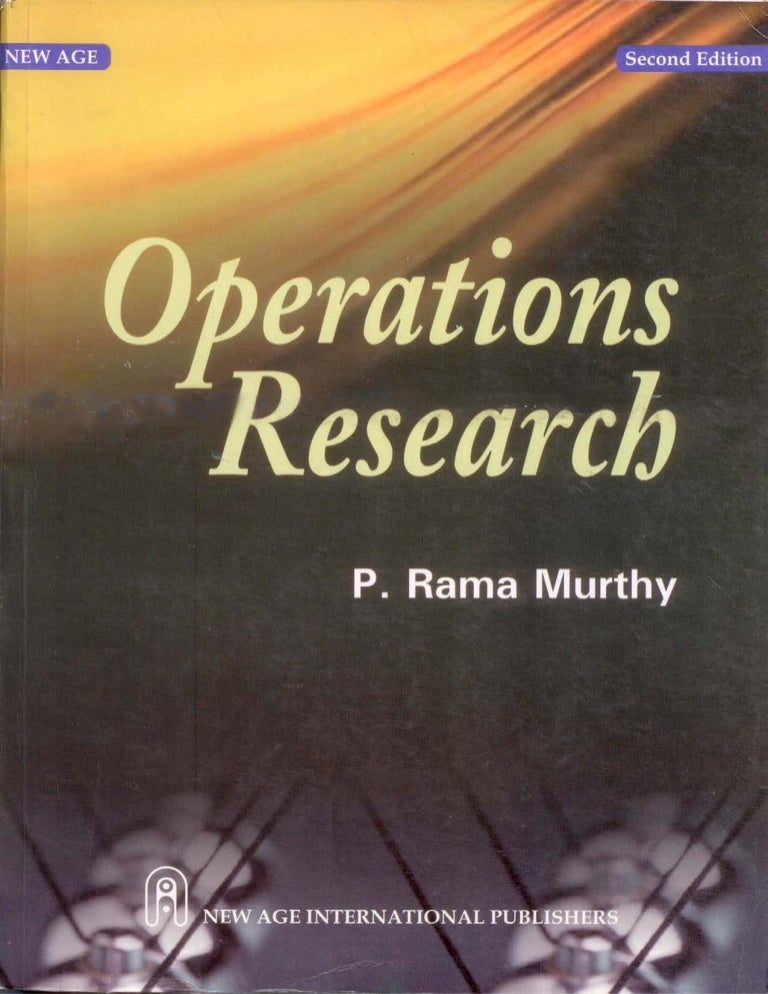 Operations research by p rama murthy