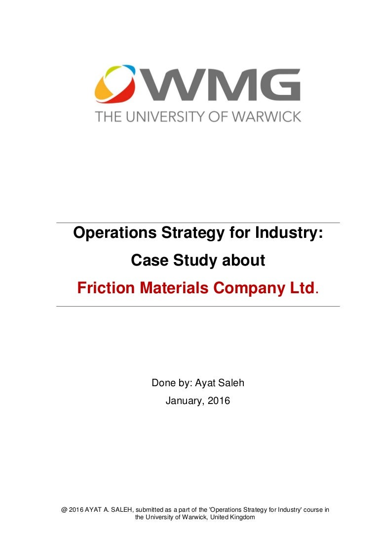 Operations strategy for industry a case study nvjuhfo Gallery