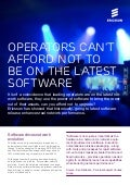 Operators can't afford not to be on the latest software