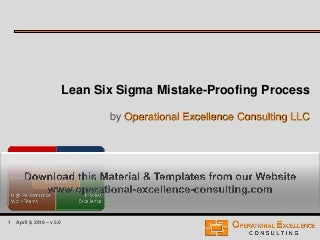 Lean Six Sigma Mistake-Proofing Process Training Module