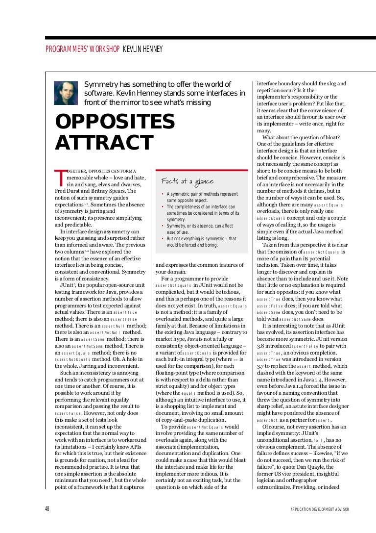 Do Opposites Attract? Essay - Words