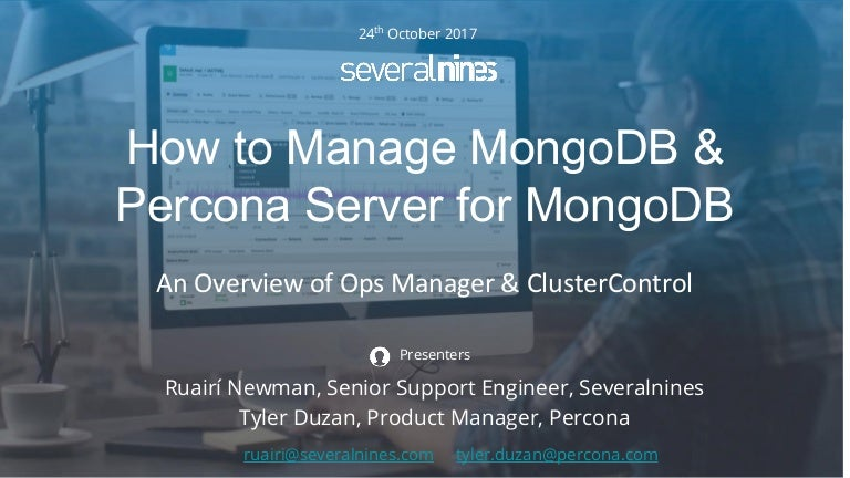 Webinar slides: How to automate and manage MongoDB & Percona