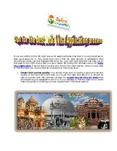 Opt for the best India Visa Application process