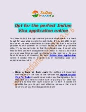Opt for the perfect Indian Visa application online