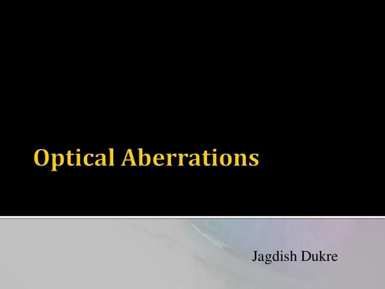Optical aberrations