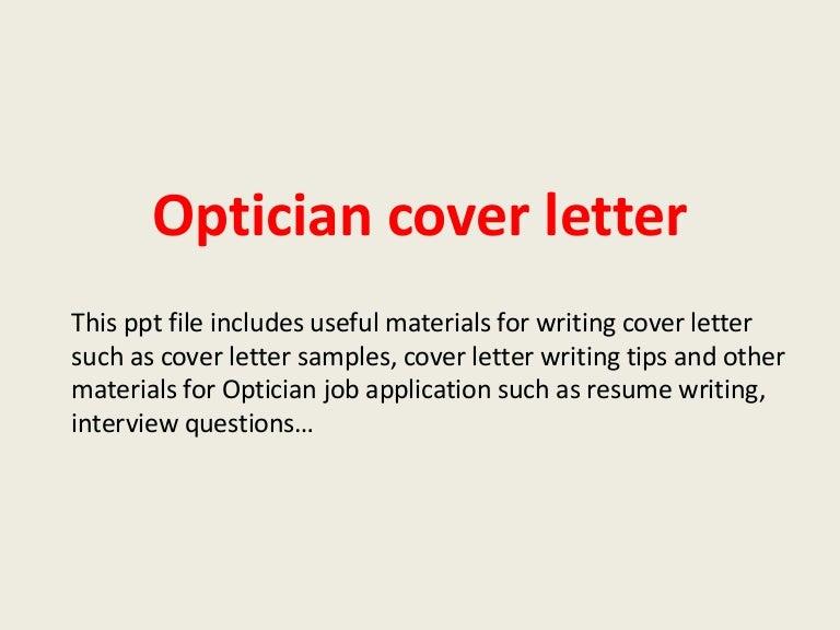 opticiancoverletter140306014840phpapp02thumbnail4jpgcb 1394070813 – Job Description for Optician