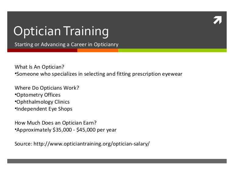 optician training, Human Body