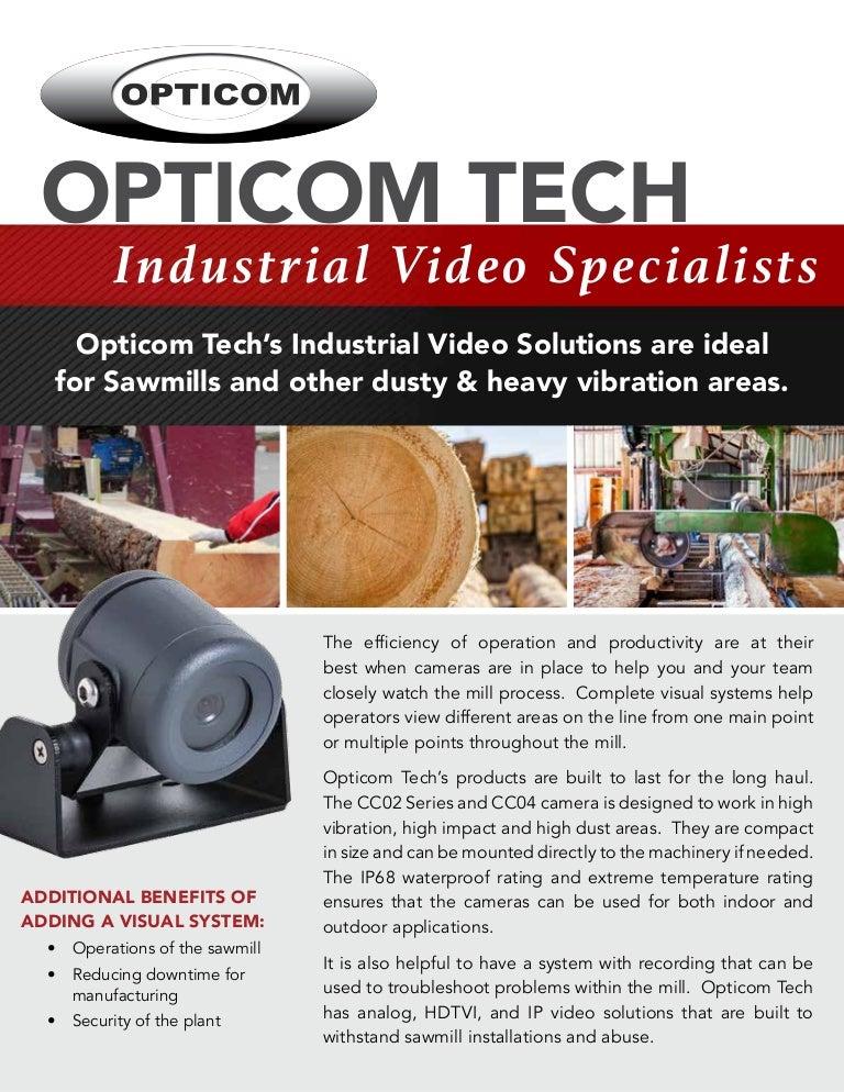 Sawmill Video Equipment