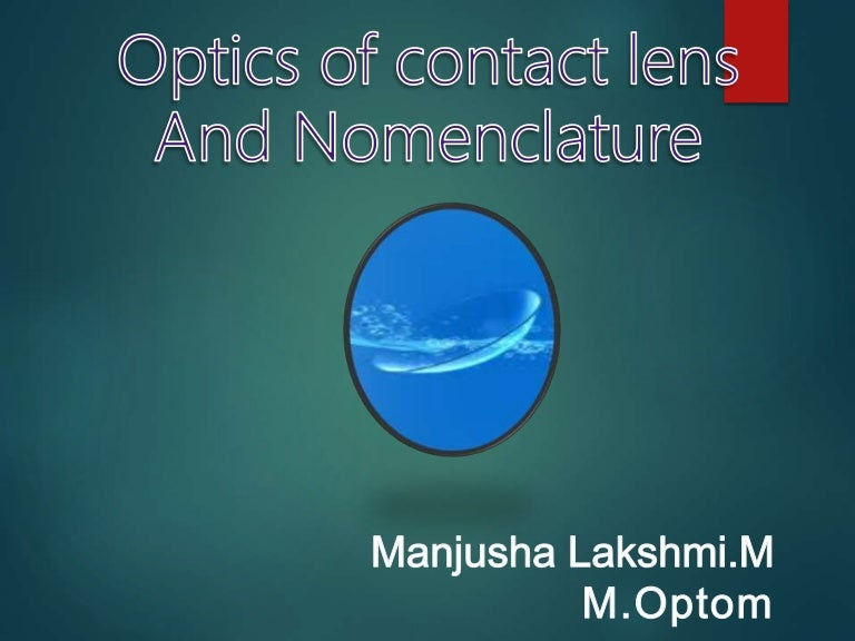 Optics Of Contact Lens And Nomenclature Copy Repaired 1