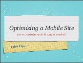 Optimizing Mobile Sites