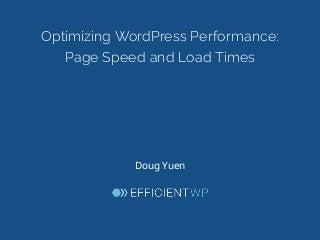 Optimizing WordPress Performance