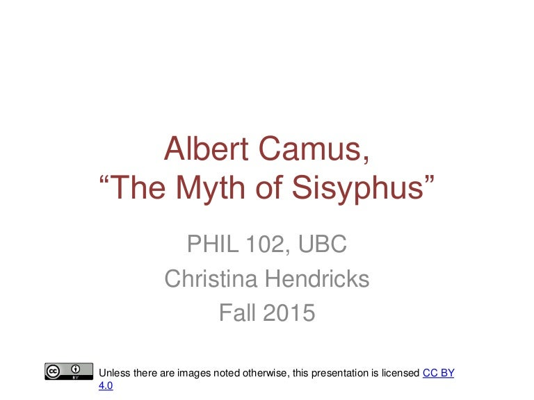 camus the myth of sisyphus