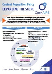 OpenAIRE Content Acquisition Policy: expanding the scope #OpenREPO2019 poster