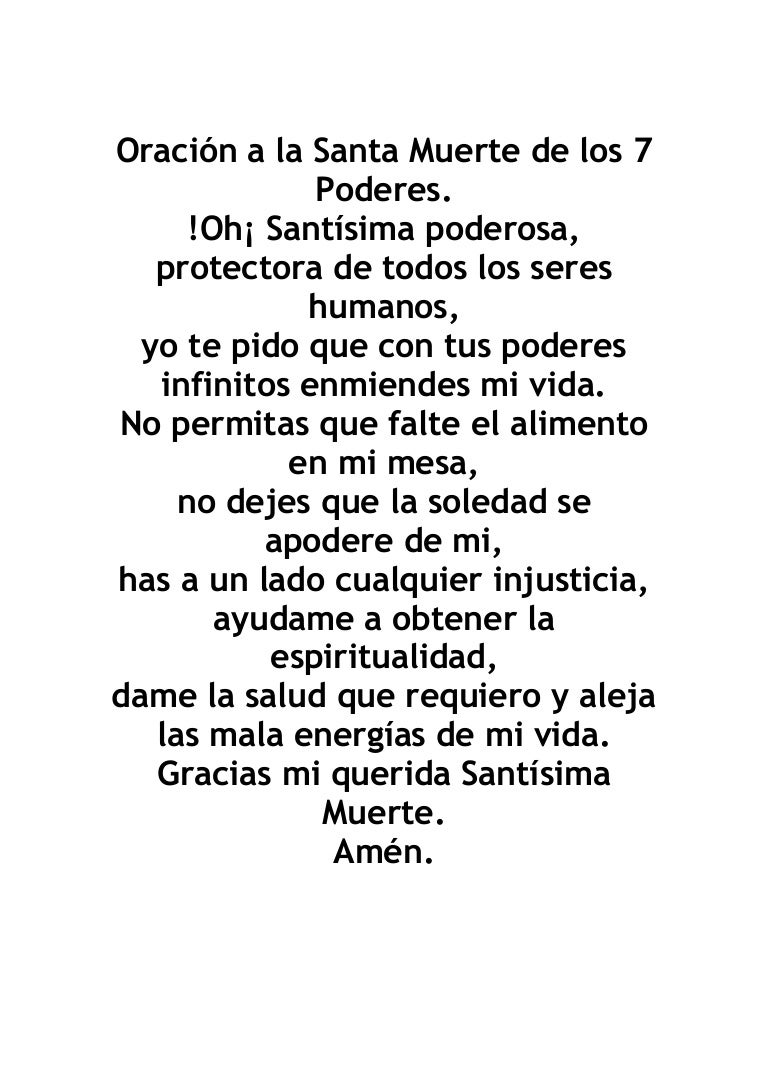 oracion ala santa muerte del amor