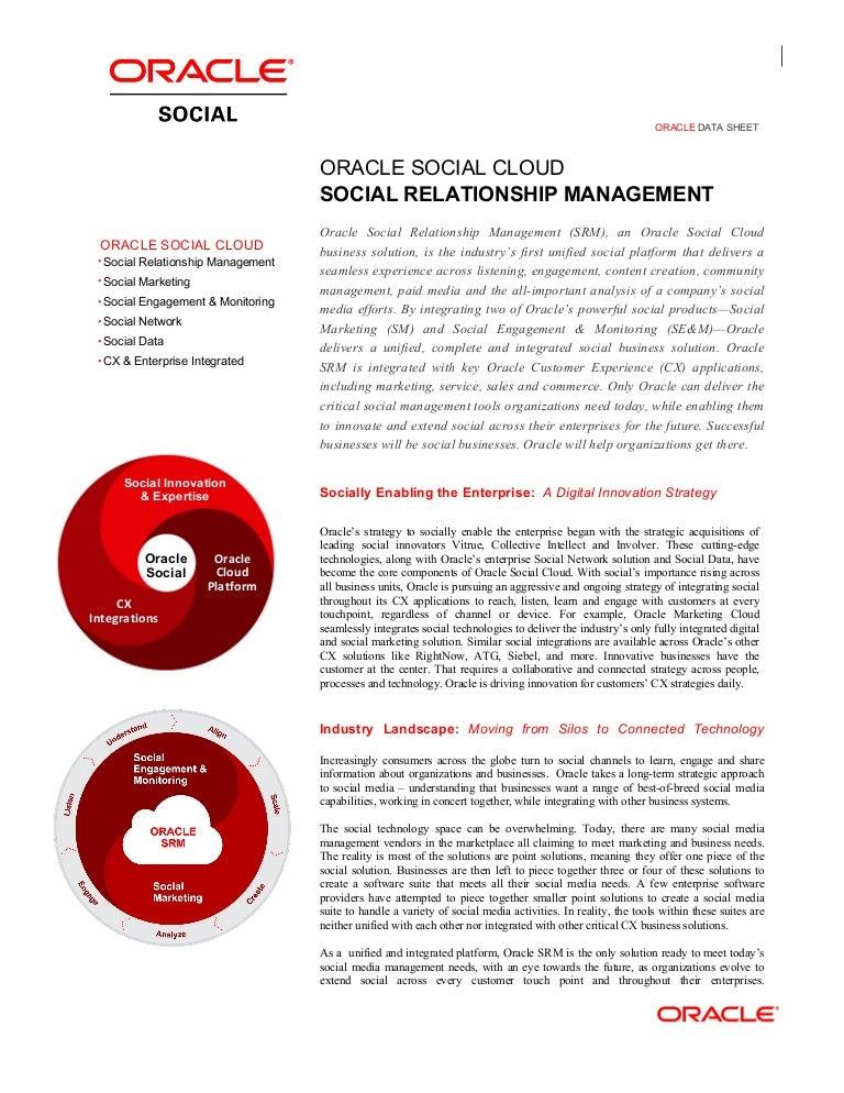 Oracle Social Relationship Management
