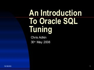 Oracle Sql Tuning