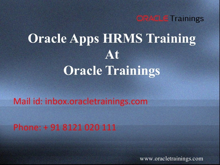 oracle apps HRMS | best oracle apps HRMS online training in hyderabad