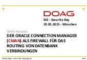Oracle connection manager_cman_doag_sig_security_mai_2015